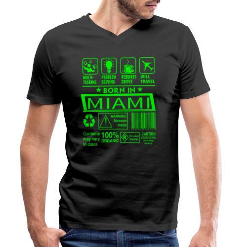 Born in Miami Florida - T-shirt bio col V Stanley & Stella Homme