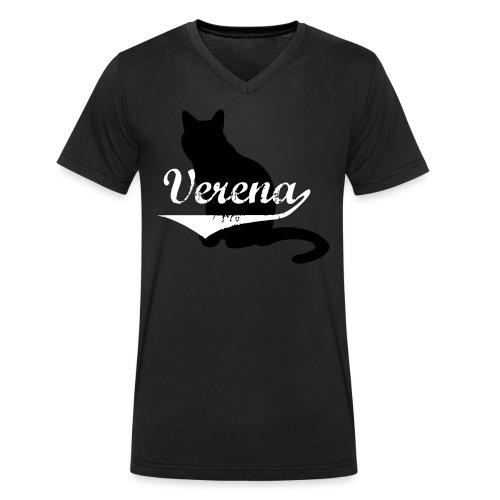 Verena Cat - Männer Bio-T-Shirt mit V-Ausschnitt von Stanley & Stella