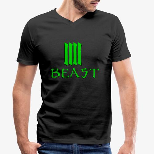 Beast Green - Men's Organic V-Neck T-Shirt by Stanley & Stella