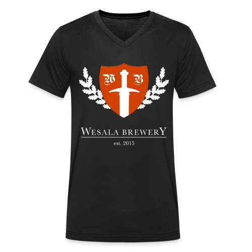 WB Logo Transparent - Men's Organic V-Neck T-Shirt by Stanley & Stella