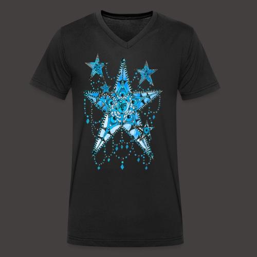 ETOILE DENTELLE BLEUE - T-shirt bio col V Stanley & Stella Homme