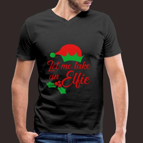 Weihnachten   Elf Mütze Weihnachtself Wortspiel - Männer Bio-T-Shirt mit V-Ausschnitt von Stanley & Stella