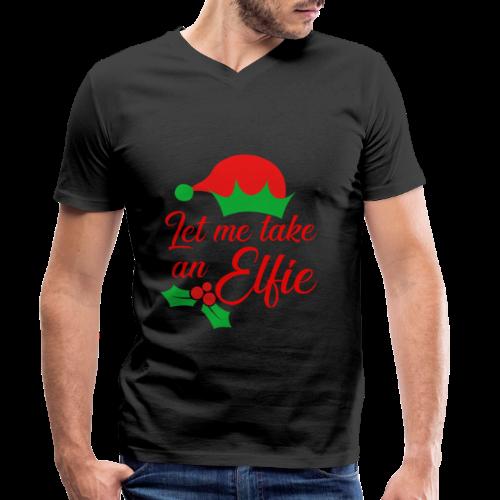 Weihnachten | Elf Mütze Weihnachtself Wortspiel - Männer Bio-T-Shirt mit V-Ausschnitt von Stanley & Stella