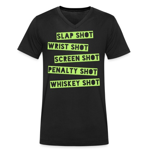 Hockey Shots - Men's Organic V-Neck T-Shirt by Stanley & Stella
