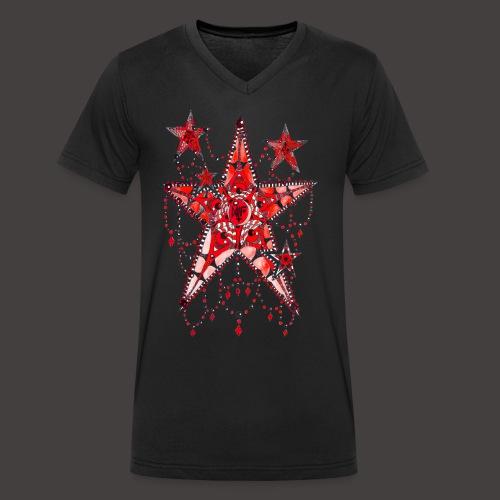 ETOILE DENTELLE ROUGE - T-shirt bio col V Stanley & Stella Homme