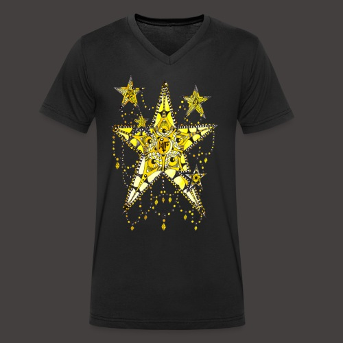ETOILE DENTELLE JAUNE - T-shirt bio col V Stanley & Stella Homme
