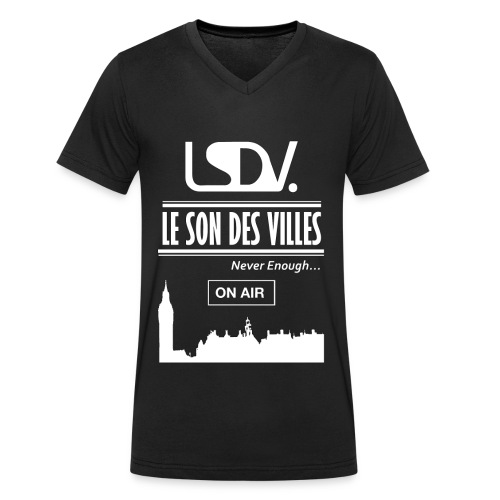 Lesondesvilles _On air LSDV - T-shirt bio col V Stanley & Stella Homme