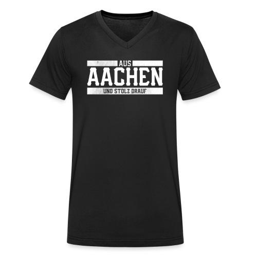 Aachen Aus Aachen und Stolz drauf Stolzer Aachener - Männer Bio-T-Shirt mit V-Ausschnitt von Stanley & Stella