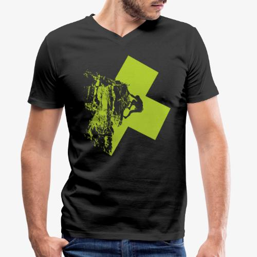 Climbing - Men's Organic V-Neck T-Shirt by Stanley & Stella