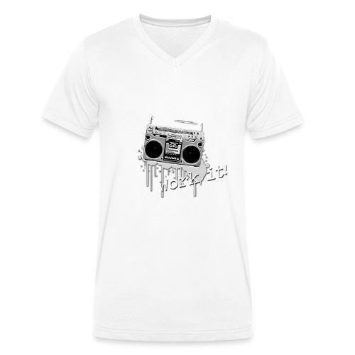 BMS Dance grey - Mannen bio T-shirt met V-hals van Stanley & Stella