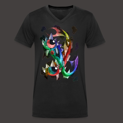 Poisson multi-color - T-shirt bio col V Stanley & Stella Homme
