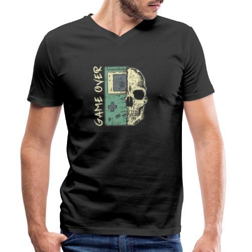 Game over Gaming Spruch Outfit für Zocker Gamer - Männer Bio-T-Shirt mit V-Ausschnitt von Stanley & Stella