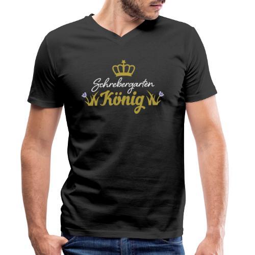Schrebergarten König Garten Hobby Hobbygärtner - Männer Bio-T-Shirt mit V-Ausschnitt von Stanley & Stella