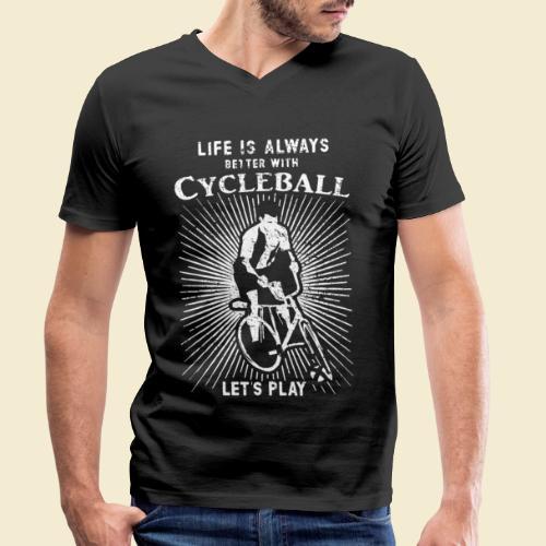 Radball | Always - Männer Bio-T-Shirt mit V-Ausschnitt von Stanley & Stella