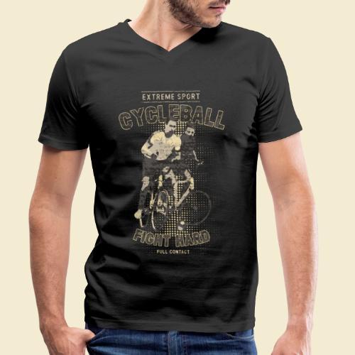 Radball | Fight Hard - Männer Bio-T-Shirt mit V-Ausschnitt von Stanley & Stella