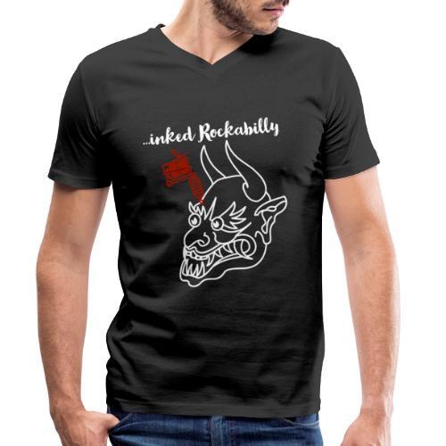 ...inked Rockabilly, Rockabella, Psychobilly. - Männer Bio-T-Shirt mit V-Ausschnitt von Stanley & Stella