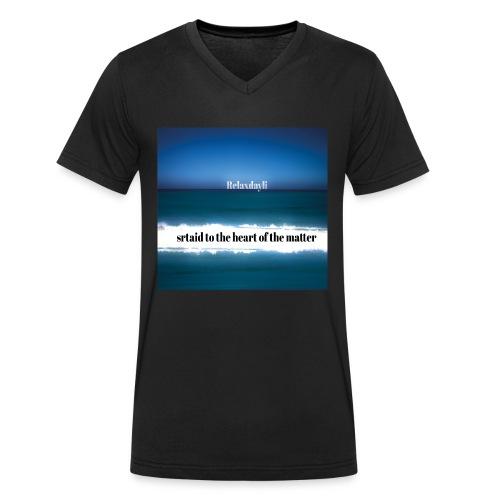 Relaxdayli - Männer Bio-T-Shirt mit V-Ausschnitt von Stanley & Stella