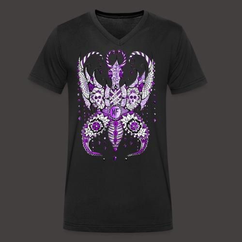 Papillon Lilou Violet - T-shirt bio col V Stanley & Stella Homme