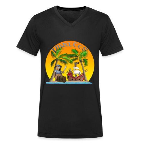 Piraten - Schatz - Männer Bio-T-Shirt mit V-Ausschnitt von Stanley & Stella