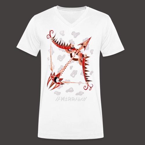 Sagittaire Négutif - T-shirt bio col V Stanley & Stella Homme
