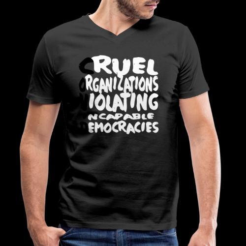 covid - Männer Bio-T-Shirt mit V-Ausschnitt von Stanley & Stella
