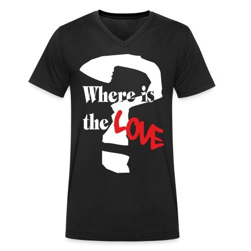 love kurven png - Männer Bio-T-Shirt mit V-Ausschnitt von Stanley & Stella