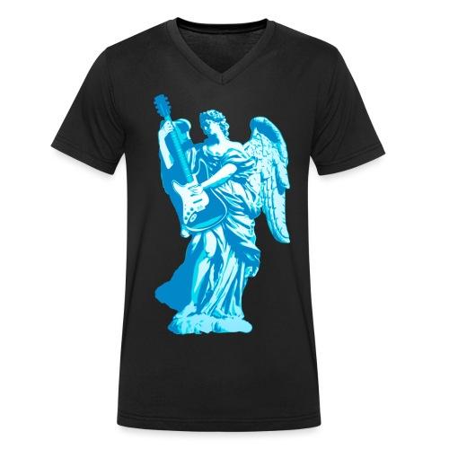 Engel 2018 blauw - Mannen bio T-shirt met V-hals van Stanley & Stella