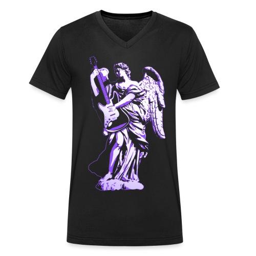 Engel 2018 paars - Mannen bio T-shirt met V-hals van Stanley & Stella
