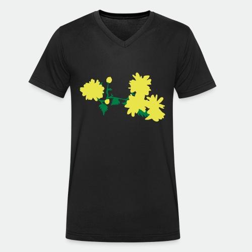 Asian flowers - Men's Organic V-Neck T-Shirt by Stanley & Stella