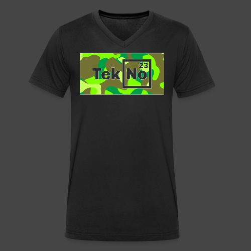 TEKNO 23 CAMOUFLAGE - T-shirt ecologica da uomo con scollo a V di Stanley & Stella