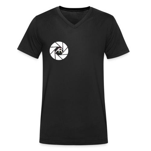 AR Photography Aperture - Men's Organic V-Neck T-Shirt by Stanley & Stella