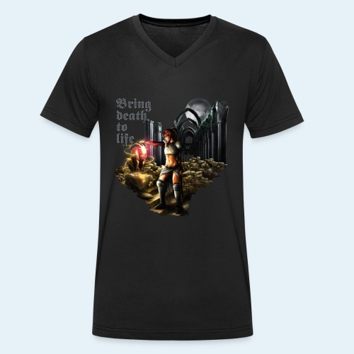 Bring death to life - Camiseta ecológica hombre con cuello de pico de Stanley & Stella