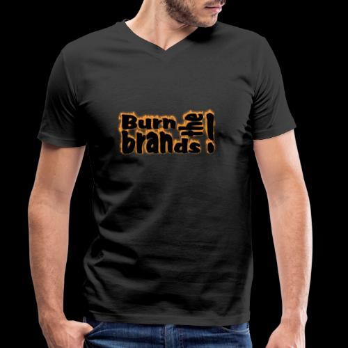 brandsburning - Männer Bio-T-Shirt mit V-Ausschnitt von Stanley & Stella