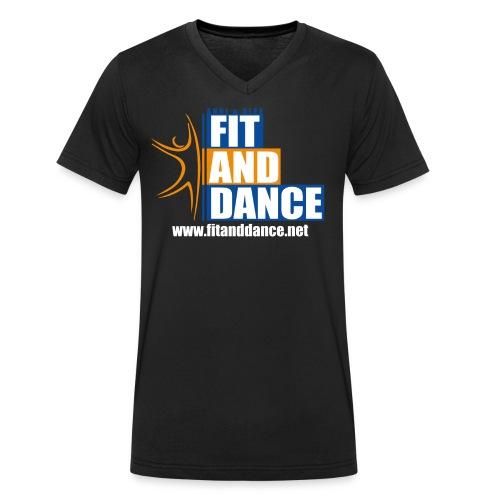 Shirt mit Homepage - Männer Bio-T-Shirt mit V-Ausschnitt von Stanley & Stella