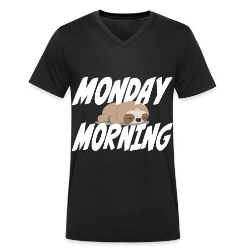 Montag Morgen Müdigkeit Wochenende ist vorbei - Männer Bio-T-Shirt mit V-Ausschnitt von Stanley & Stella