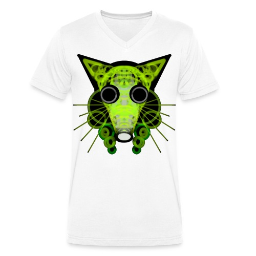 strange head of a rat in punk style - Men's Organic V-Neck T-Shirt by Stanley & Stella