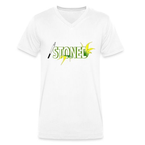 STONED - T-shirt bio col V Stanley & Stella Homme
