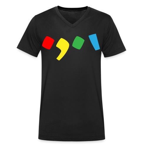 Tjien Logo Design - Accents - Mannen bio T-shirt met V-hals van Stanley & Stella