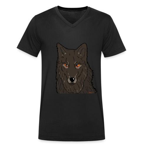 HikingMantis Wolf png - Økologisk Stanley & Stella T-shirt med V-udskæring til herrer