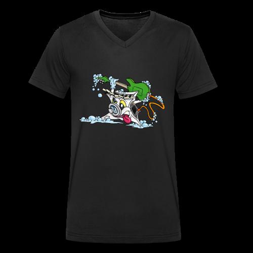 Wicked Washing Machine Wasmachine - Mannen bio T-shirt met V-hals van Stanley & Stella