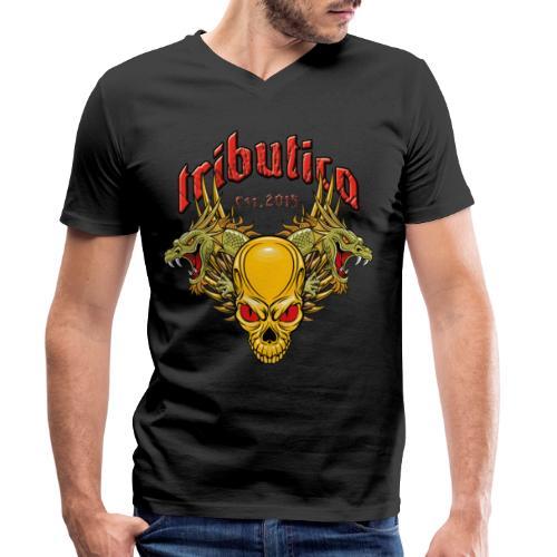 Death Dragon by TRIBUTICA® - Männer Bio-T-Shirt mit V-Ausschnitt von Stanley & Stella