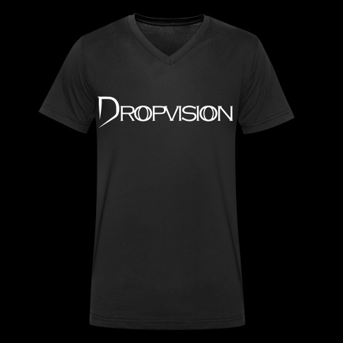 Dropvision Logo Vit - Ekologisk T-shirt med V-ringning herr från Stanley & Stella