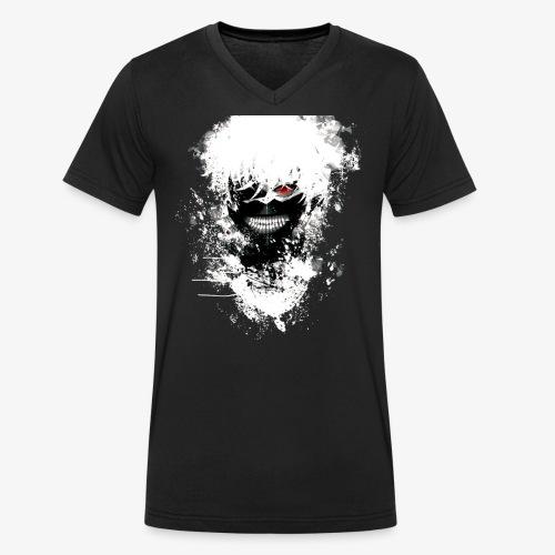 Kaneki Eye Patch - Men's Organic V-Neck T-Shirt by Stanley & Stella