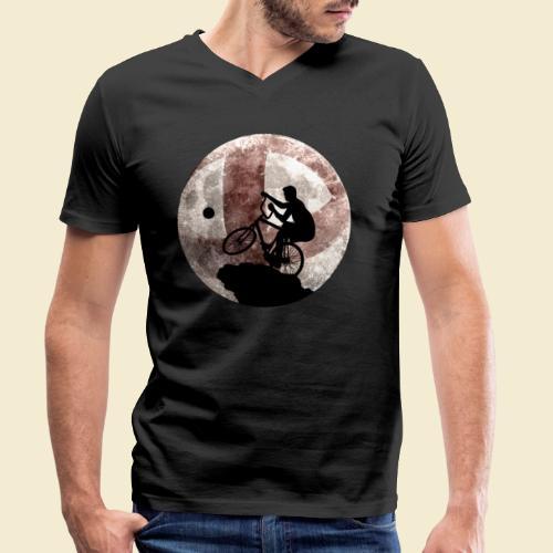 Radball | Cycle Ball Moon - Männer Bio-T-Shirt mit V-Ausschnitt von Stanley & Stella