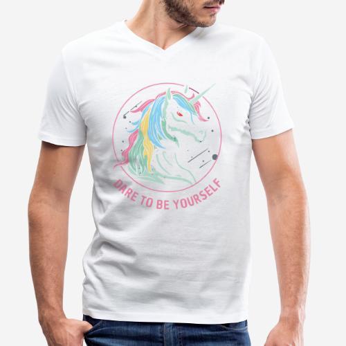 unicorn dare utopia - Männer Bio-T-Shirt mit V-Ausschnitt von Stanley & Stella