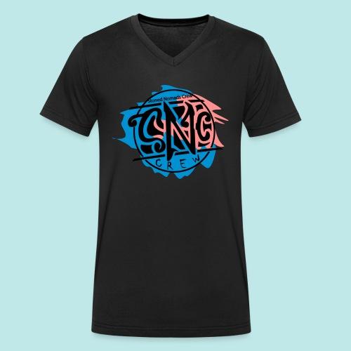 snc_logo_final_NEU_3Farbig - Männer Bio-T-Shirt mit V-Ausschnitt von Stanley & Stella