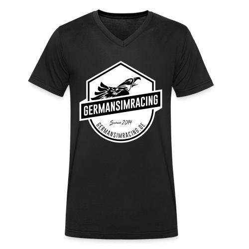 White Emblem - Männer Bio-T-Shirt mit V-Ausschnitt von Stanley & Stella