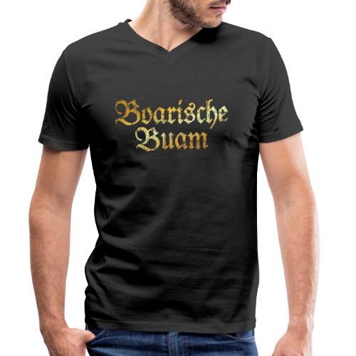Boarische Buam - Bayerische Buben (Vintage/Gelb) - Männer Bio-T-Shirt mit V-Ausschnitt von Stanley & Stella