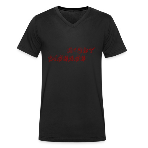Text Logo - Økologisk T-skjorte med V-hals for menn fra Stanley & Stella