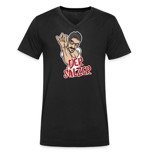 Der Salzer | Grillmeister Tshirt - Männer Bio-T-Shirt mit V-Ausschnitt von Stanley & Stella